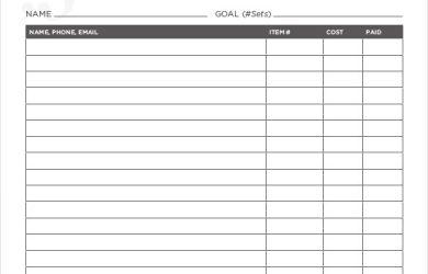 fundraiser order form basic fundraising order form pdf download