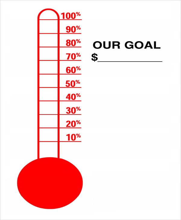 fundraiser thermometer templates