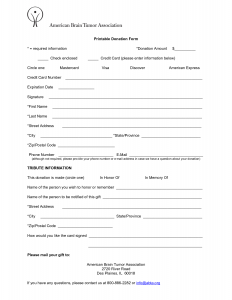 fundraising order form templates donation form template image