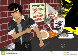 funny wanted posters say no reject quit smoking cigarette illustration