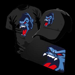 gaming website templates clan logo vector print l gorilla monkey mascot
