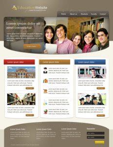 gaming website templates education website