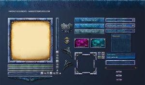 gaming website templates fantasy game ui template