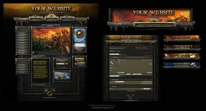 gaming website templates warhammer online web template by karsten
