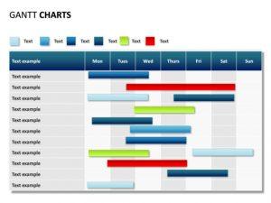 gantt chart powerpoint powerpoint slide gantt chart days rows ssp pl
