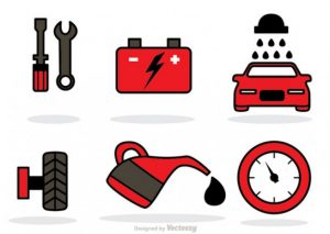 gas station logos car service icons