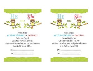 gender reveal invitation template baby reveal invitation template