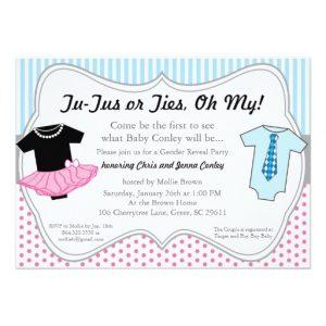 gender reveal invitation template tutus ties gender reveal baby shower invitation rbaffcefcbde zkrqs