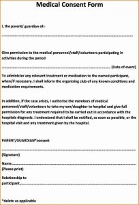 general contractor agreement medical consent forms cfdfdbabcacefcab