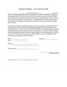 general contractor agreement release of liability