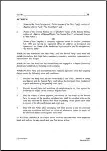 general contractor agreement settlement templates