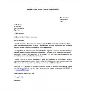 general cover letter template general application cover letter pdf template free download
