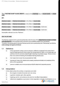 general partnership agreement partnership agreement sample