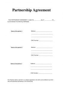general partnership agreement template partnership agreement articles of partnership