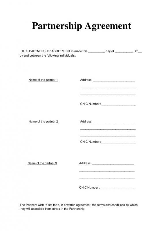 general partnership agreement template