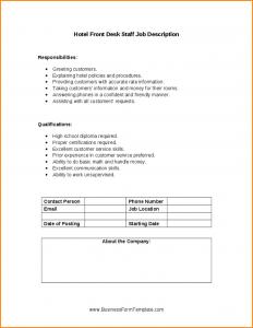 generic application form front desk manager job description hotel front desk staff job description