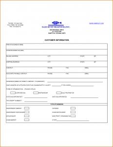 generic car bill of sale customer information form template
