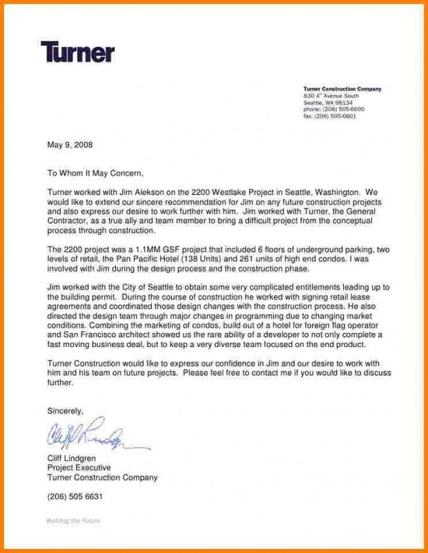 generic reference letter
