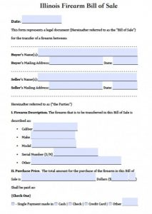 generic vehicle bill of sale illinois gun bill of sale x