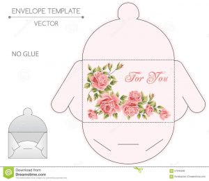 gift card envelope template envelope design die stamping vector template floral