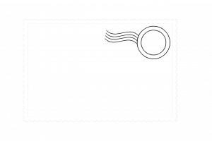 gift card envelope template postage stamp