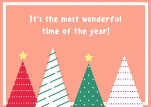 gift card envelope templates canva patterned trees christmas card mabanvrzm