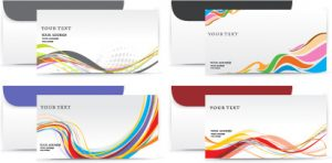 gift card envelope templates envelope presentation template design vector