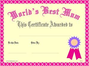 gift certificate template pages best mum certificate
