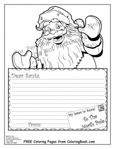 gift certificate template pages coloring pages free online coloring pages santa letter within santa letter template coloring