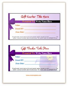 gift tag template free gift voucher template