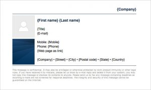 gmail signature template corporate navy blue gmail email signature template download