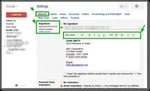 gmail signature template gmail signature special block