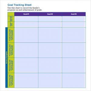 goal tracker template goal tracking sheet template