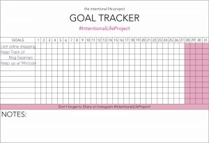 goal tracker template intentional life project goal tracker