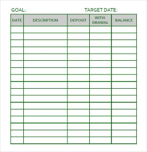 goal tracker template personal goal tracking template