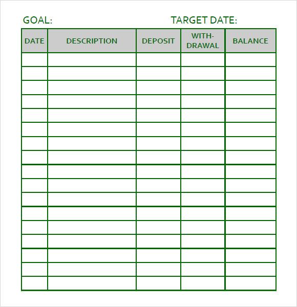 goal tracker template