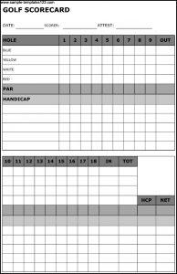 golf scorecard template sample golf scorecard template