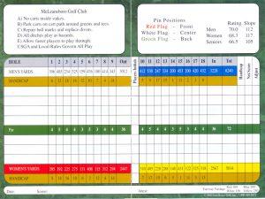 golf scorecard template scorecard