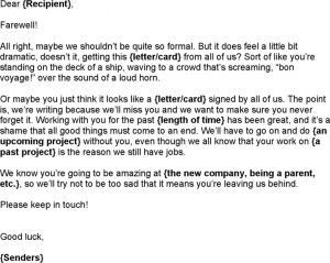 goodbye email to coworkers after resignation nice ideas goodbye letter to colleagues after resignation modern sample text writing awesome paragraph bold