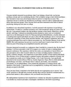 grad school personal statement examples psychology graduate school personal statement example