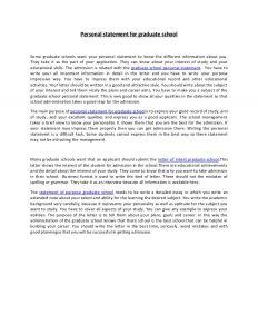 graduate school personal statement personal statement for graduate school