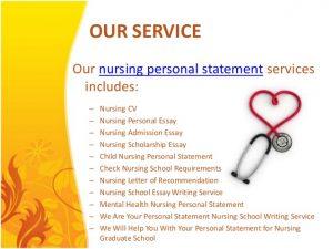 graduate school recommendation letter nursing personal statements