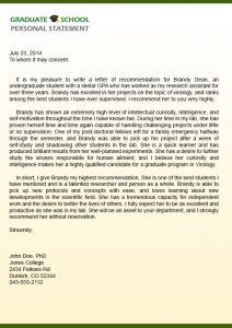 graduate school recommendation letter sample letter of recommendation for graduate school ncetp