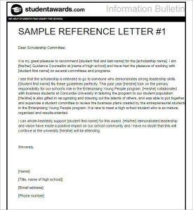 graduate school recommendation letter scholarship letter of recommendation template