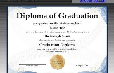 graduation certificate templates certificate and diploma templates