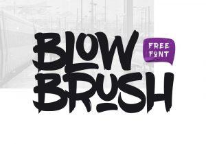graffiti font styles blowbrush free font