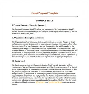 grant proposal template grant funding proposal pdf download