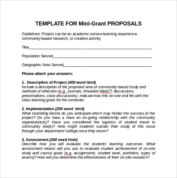 grant writing examples