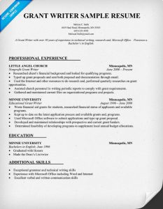 grant writing examples grant writer resume example
