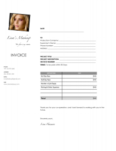 graphic design contracts makeup artist invoice template